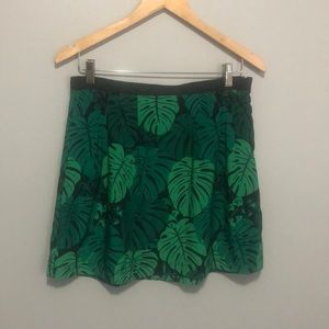 Banana Republic palm print skirt